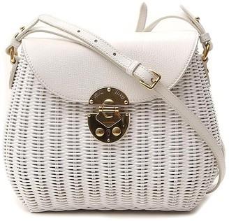 Miu Miu City Woven Shoulder Bag