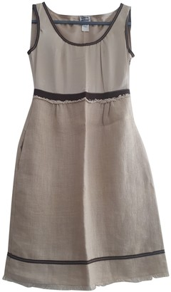 Philosophy di Alberta Ferretti Ecru Linen Dress for Women