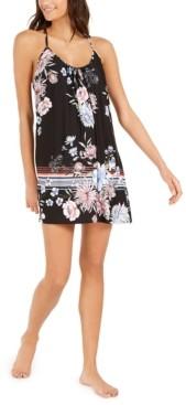 Linea Donatella Flower Border Chemise Nightgown