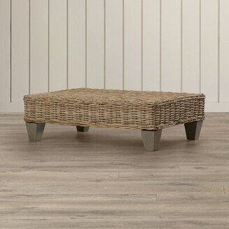 Breakwater Bay Willow Wicker Bench Color: Natural Unfinished