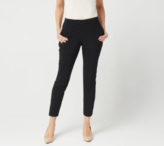 Susan Graver Petite Ultra Stretch Pants with Side Seam Trim
