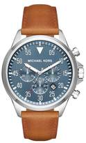 Michael Kors Men's 'Gage' Chronograph Leather Strap Watch, 45Mm