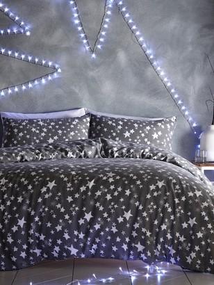 Silentnight Stars Brushed Cotton Duvet Cover Set