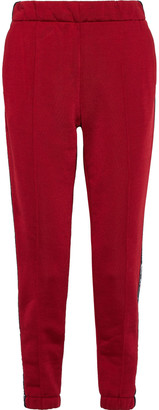 Alexander Wang Printed French Cotton-blend Terry Tapered Pants