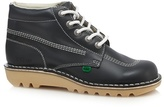 Kickers Navy Leather Contrast Stitched Chukka Boots