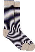 Barneys New York Men's Striped Cotton-Blend Socks-BLUE