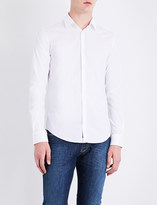 Armani Jeans Slim-fit stretch-cotton shirt