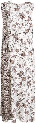 Tory Burch Whey Tropicale Printed Silk Sleeveless Midi Dress L
