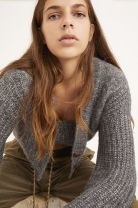 Urban Outfitters Lolli Cable Knit Cropped Cardigan