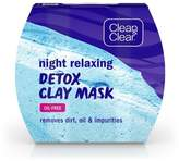 Clean & Clear Night Relaxing Detox Clay Mask - 1ct
