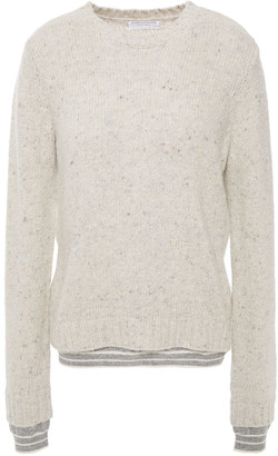 Majestic Filatures Marled Wool-blend Sweater