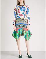 Etro Printed hammered-silk dress
