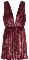 Saint Laurent Pleated lame velvet minidress