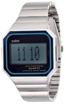 o.d.m. Mysterious VII Unisex Quartz Watch with Silver Dial Digital Display and Silver Stainless Steel Strap DD129-04