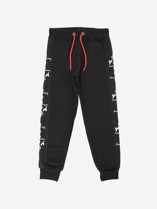 Diadora Jogging Trousers With Logoed Bands
