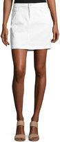 NYDJ Emily Denim Mini Skirt, White