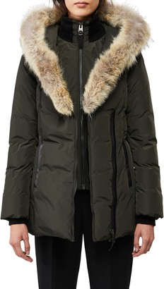 Mackage Adali Genuine Coyote Fur Trim Down Coat