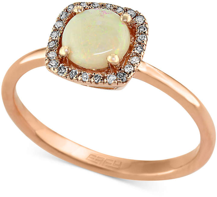 Effy Gemma by Opal (3/4 ct. t.w.) and Diamond Accent Ring in 14k Rose Gold