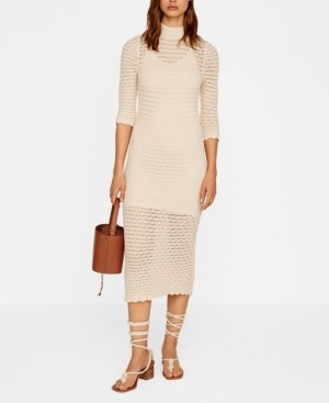MANGO Women's Crochet Dress