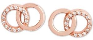 Olivia Burton Swarovski Crystal Interlocking Ring Stud Earrings