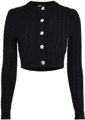 Ronny Kobo Lynnsey Cable Knit Cardigan