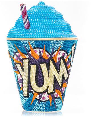 Judith Leiber Frozen Drink Yum Crystal Clutch Minaudiere, Blue