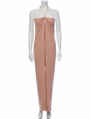 Jacquemus Halterneck Long Dress Pink