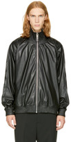 Miharayasuhiro Black Faux-leather Track Jacket