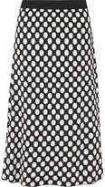 House of Holland Polka-dot Jacquard-knit Skirt - Black