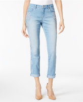 Style&Co. Style & Co Embroidered Cuffed-Leg Jeans, Created for Macy's