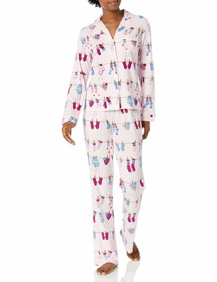 Mae Amazon Brand Women's Notch Collar Pajama Set