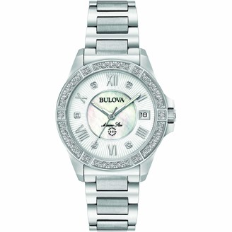 Bulova Women's Analogue Quartz Watch with Stainless Steel Strap 96R232