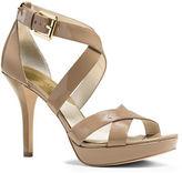 MICHAEL Michael Kors Evie Patent Leather Stiletto Sandals