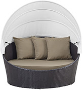 Modway Convene Canopy Outdoor Patio Daybed with Cushions