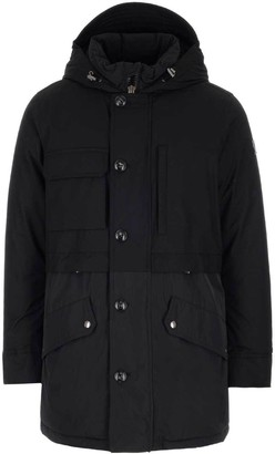 Woolrich Dual-Fabric Hooded Parka Coat