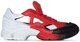 Adidas By Raf Simons X Raf Simons red and black Ozweego cut out sneakers