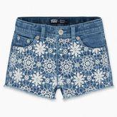 Levi's Toddler Girls (2T-4T)Crochet Shorty Shorts