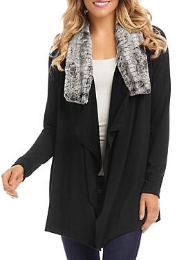 Karen Kane Faux Fur Collar Jacket