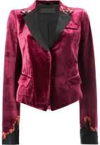 Haider Ackermann fitted velvet blazer