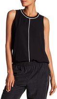 Vince Camuto Colorblock Sleeveless Crepe Blouse