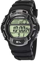 Calypso Men's Digital Watch with LCD Dial Digital Display and Black Plastic Strap K5573/2