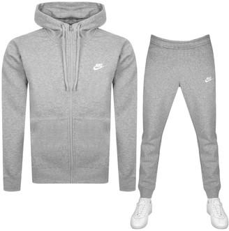 Nike Standard Fit Logo Tracksuit Grey