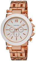 Vernier Rose Gold & White Chronograph Bracelet Watch