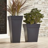 Crate & Barrel Zinc Square Planters