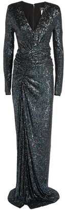 Jovani Sequin Wrap Gown
