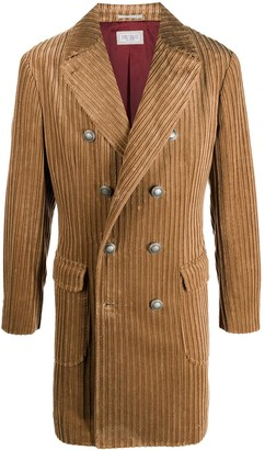 Brunello Cucinelli Corduroy Double-Breasted Coat
