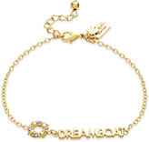 "Kate Spade Gold-Tone ""Dreamboat"" Pavé Life Ring Bracelet"