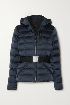 Goldbergh Soldis Hooded Belted Quilted Down Ski Jacket - Navy