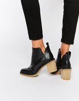Miista Kendal Heeled Leather Ankle Boots