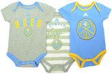adidas Babies' Denver Nuggets 3-Pack Bodysuit Set